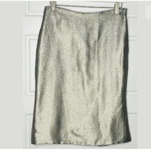 Ralph Lauren black label metallic pencil skirt